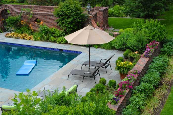 Pool Landscape Design by Twig & Vine