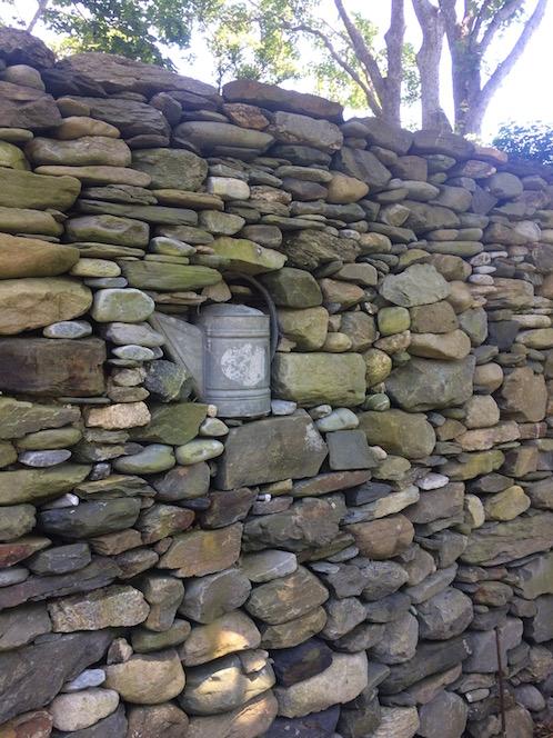 Rhode Island gardens stone wall