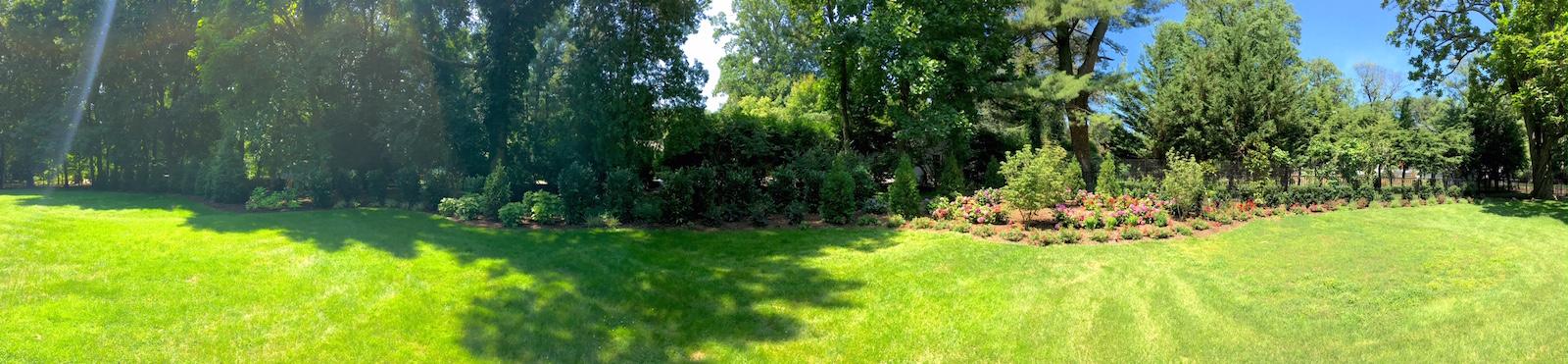 Lawn transformed by landscape design NJ