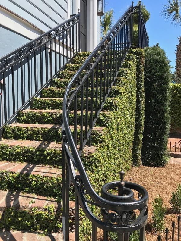 flower box in garden club stairway