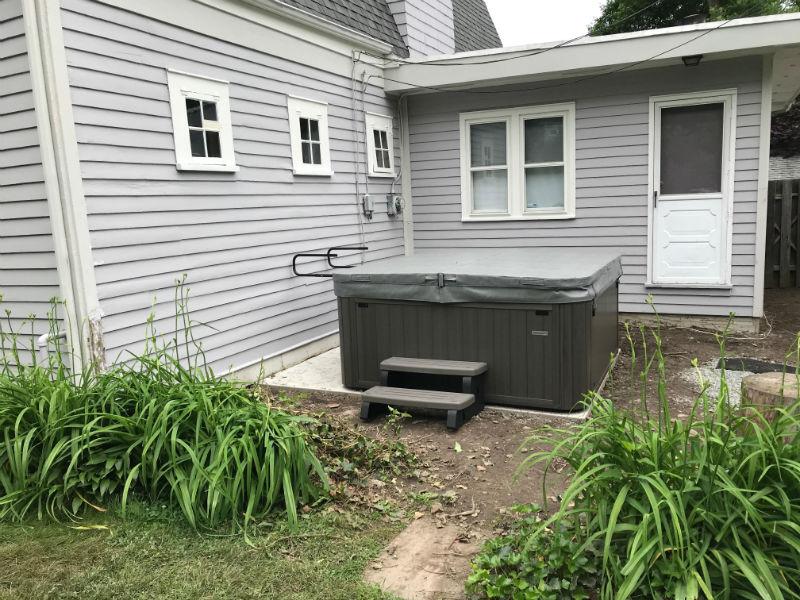 Backyard Hot Tub Before