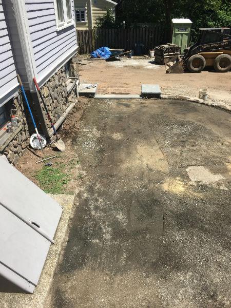 Backyard Patio Before