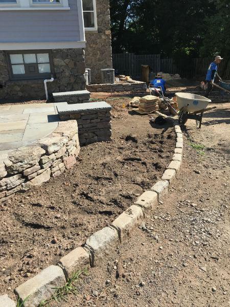 Backyard Patio Redesign Before